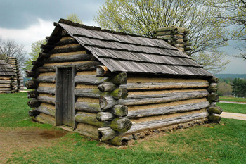 valley forge replica cabin