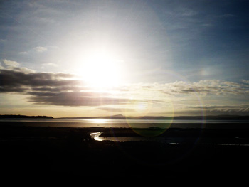 sun over loch indaal