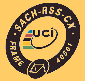 uci frame sticker