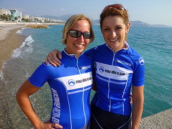 filles a velo training camp