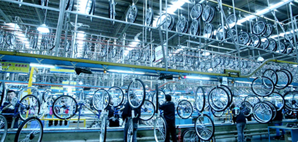 bicycle production line