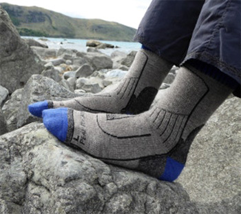 peak to plateau yak wool socks