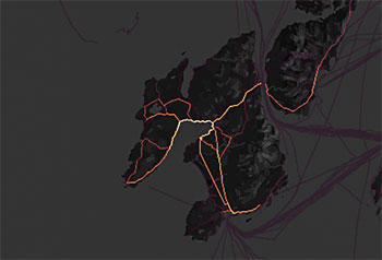 strava heat map - islay